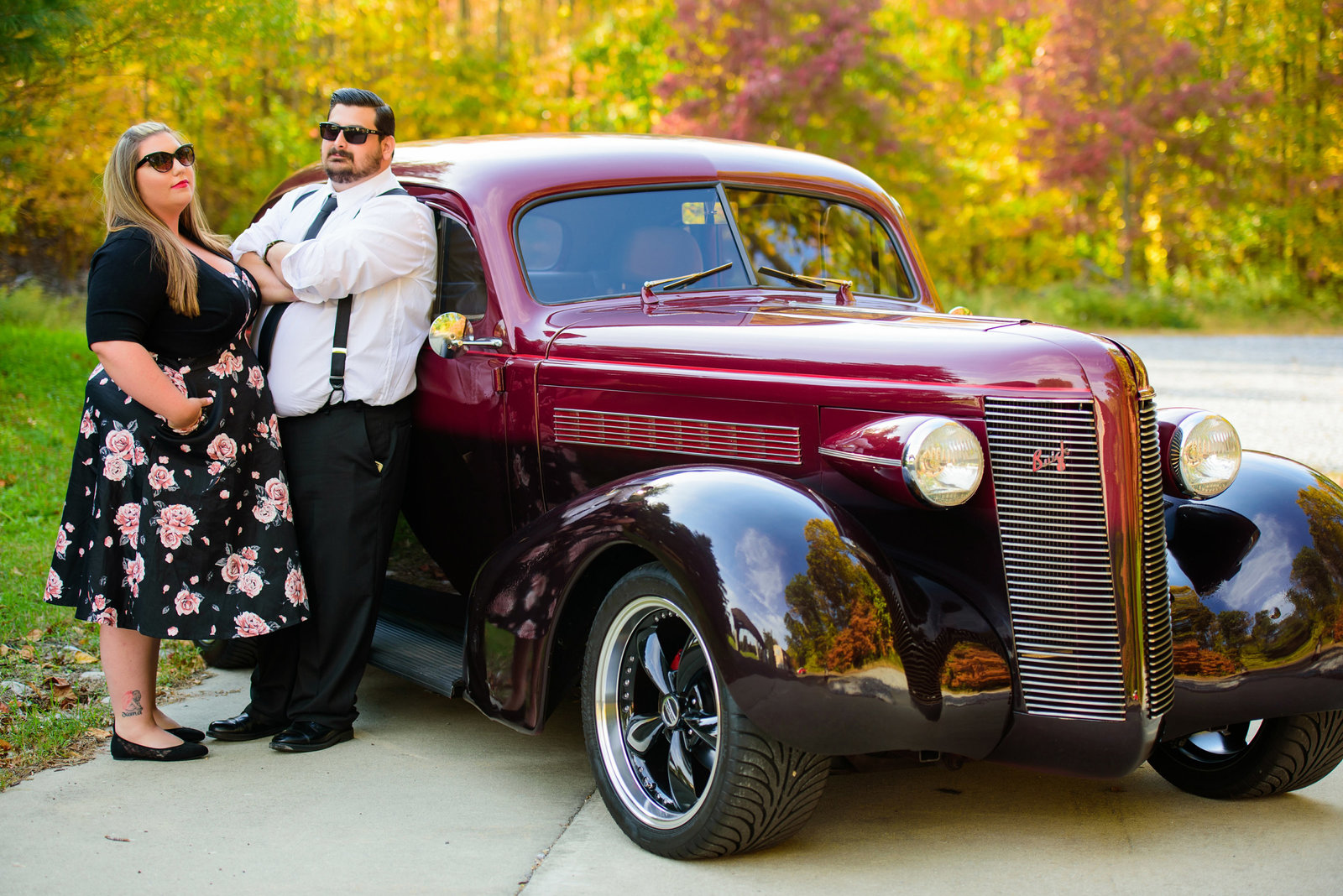 Retro_Pinup_Car_engagement_session_Nj005