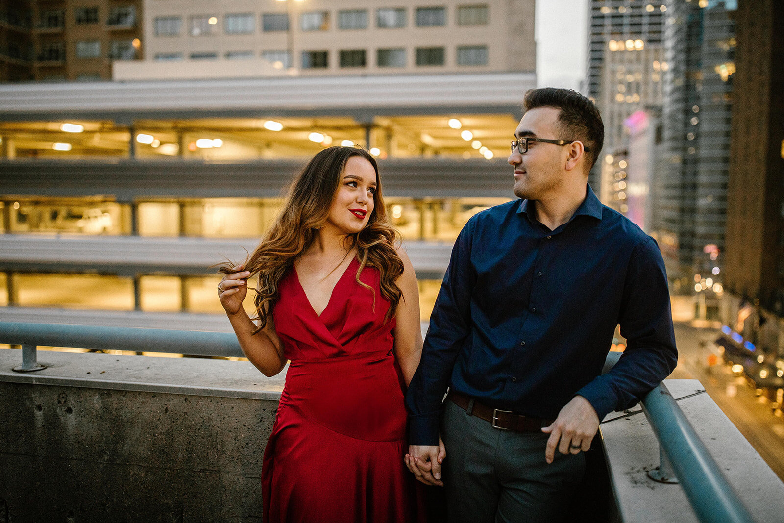 Kori+Tommy_Memorial Park and Downtown Houston Engagements_46