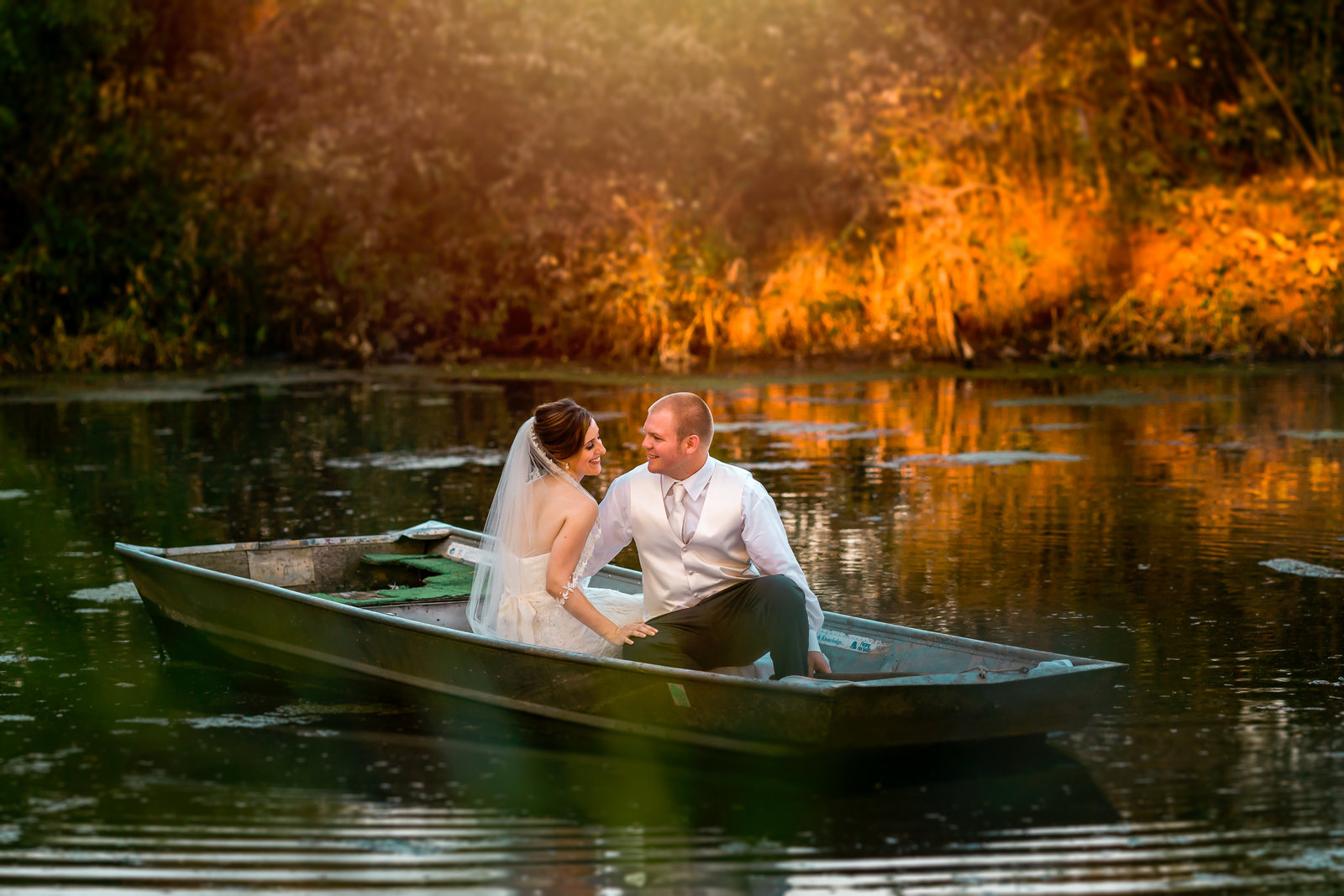 storybook wedding pond
