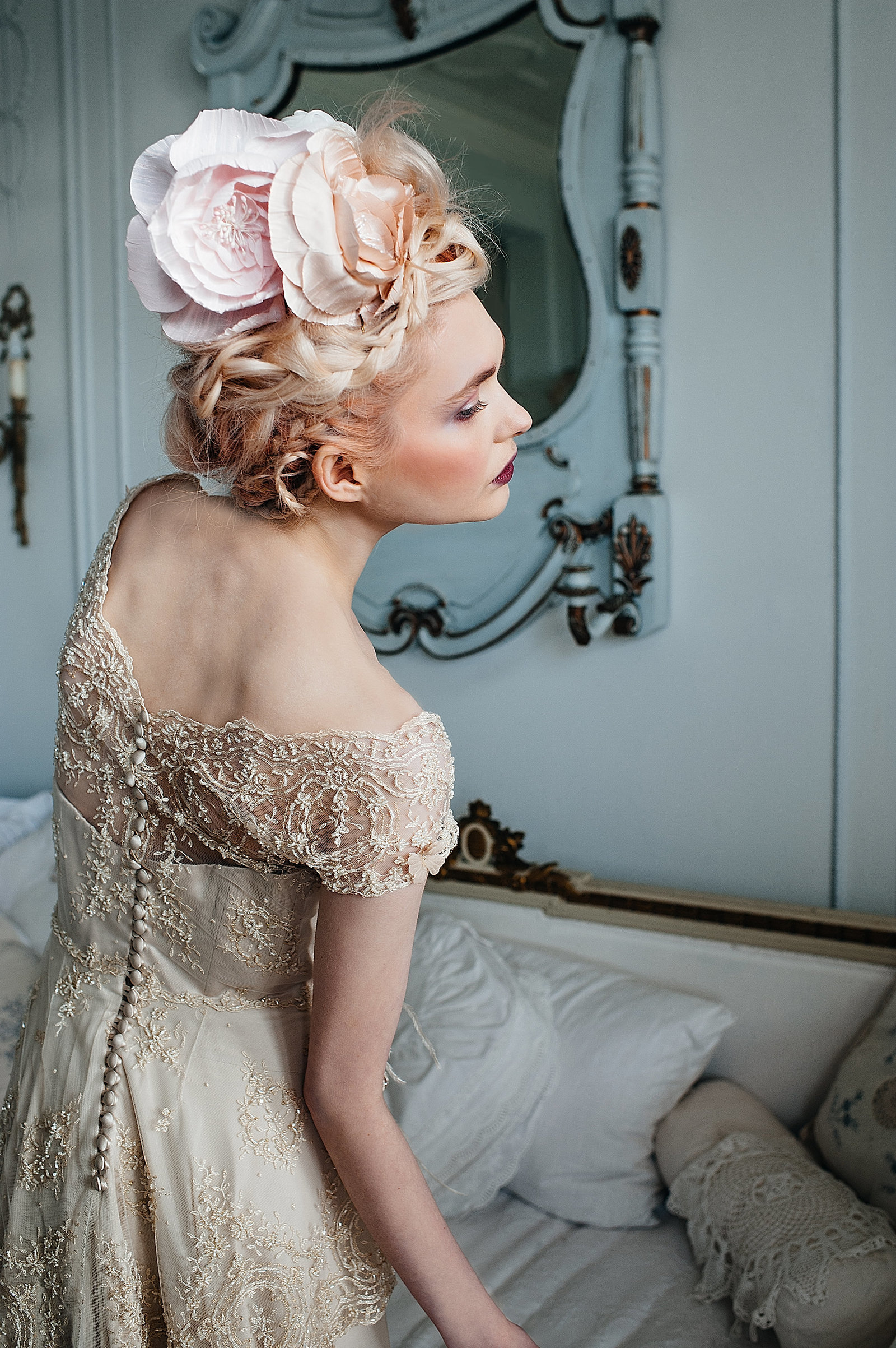 LilyElsie_beaded _lace_edwardian_champagne_wedding_dress_JoanneFlemingDesign (7)