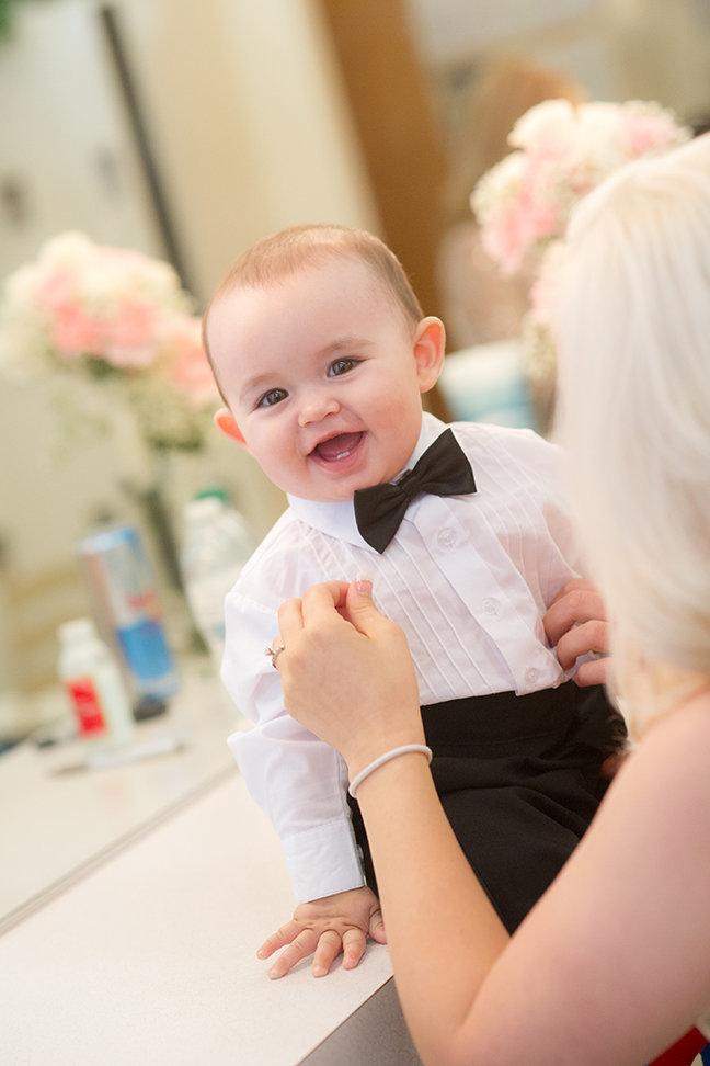 smiling babyKids at weddings
