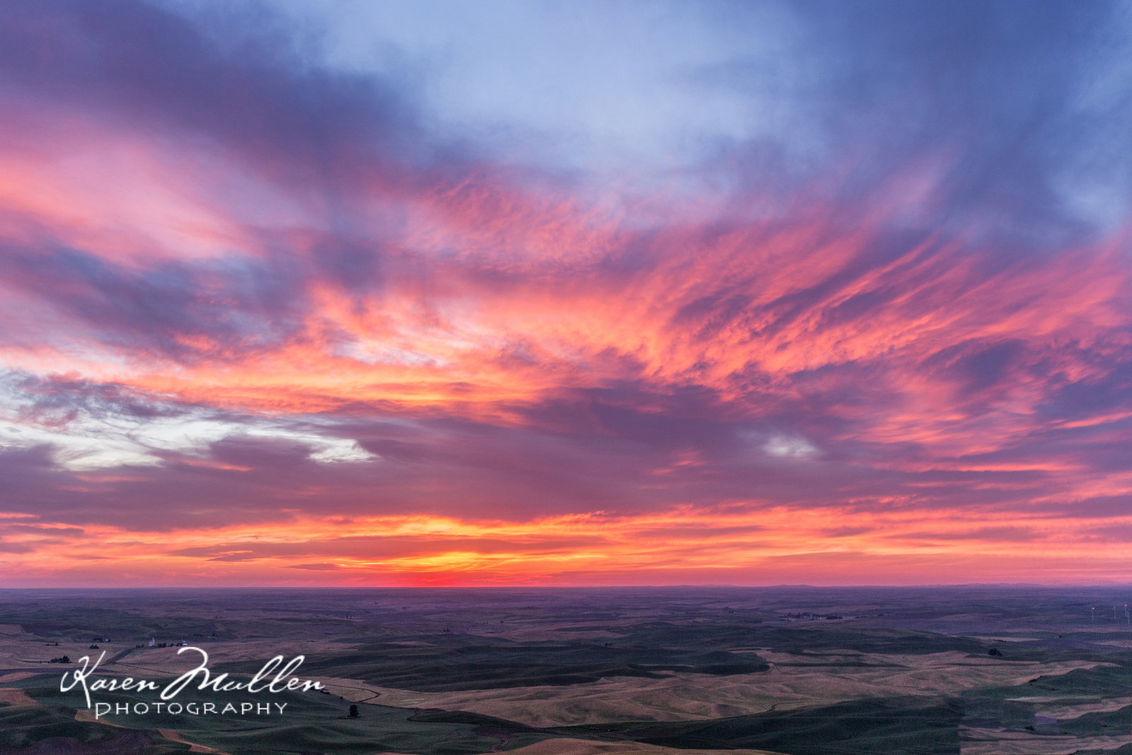 Sunset over Palouse