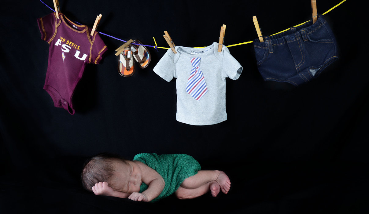 Newborn Session showing my closet