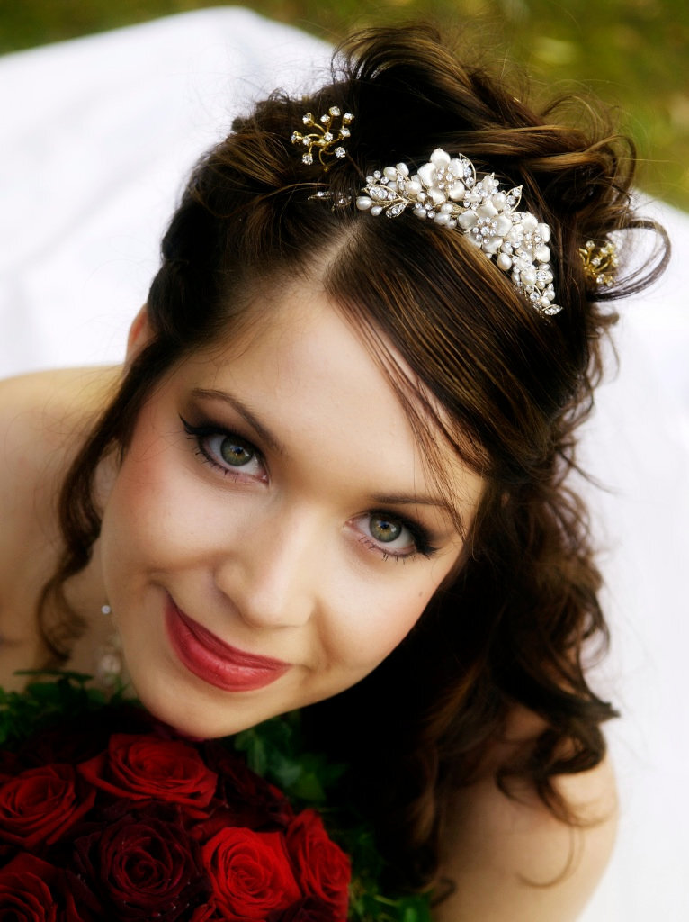Bride head shot