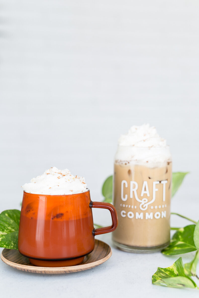 Product shoot for Craft & Common Coffee Fall drink menu 14
