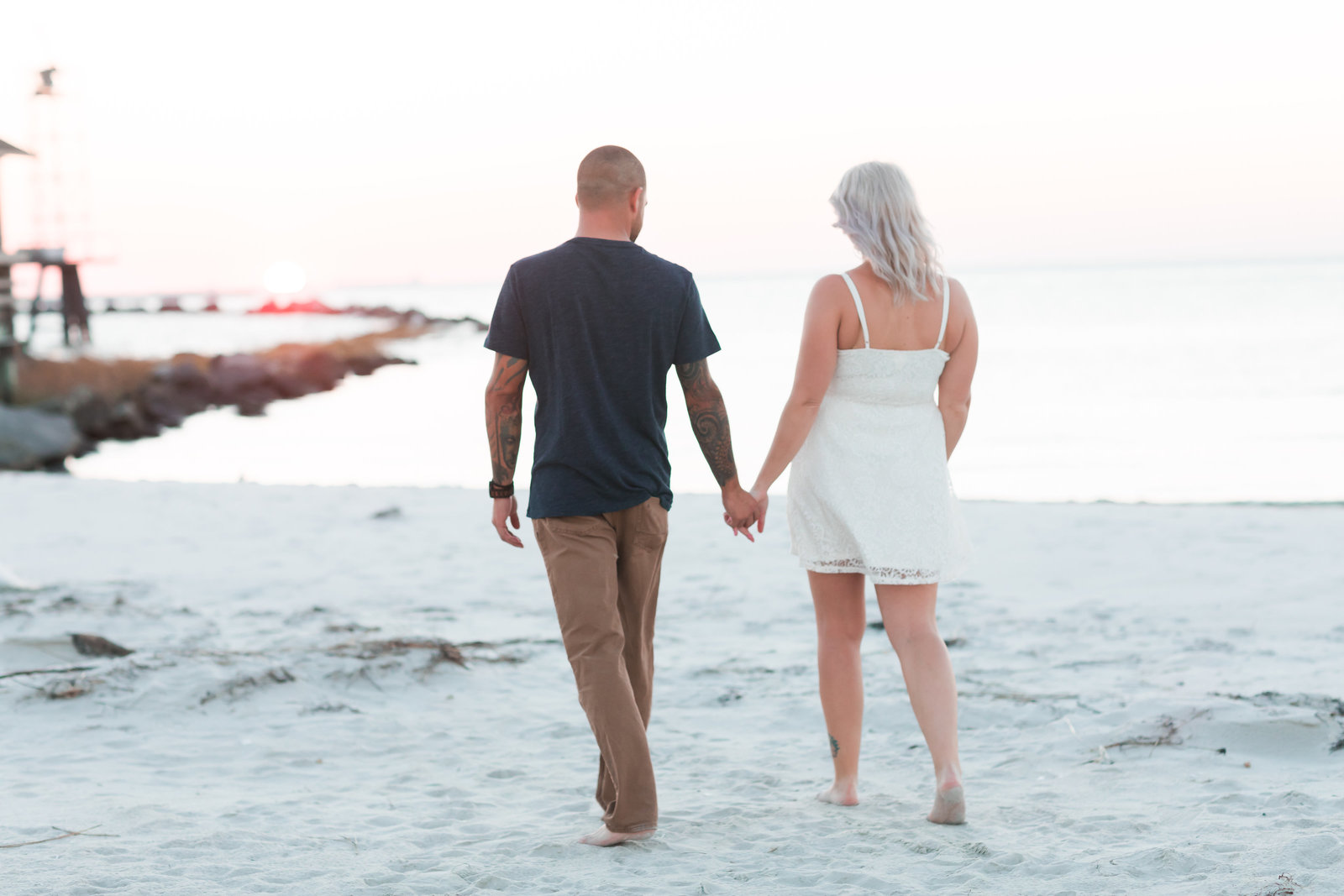 Cape Charles Sunset Engagement Session by Elizabeth Friske Photography-15