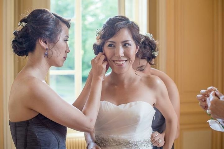 Loire Wedding hair and makeup