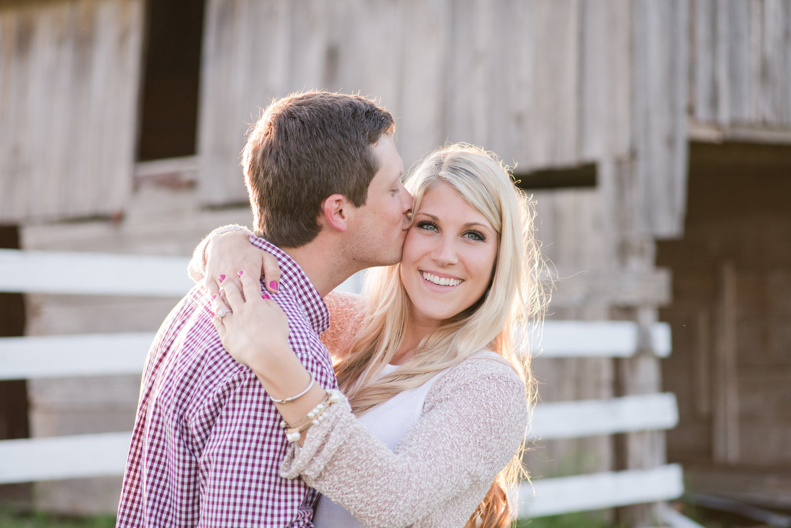 Walburg Barn Engagement Photos