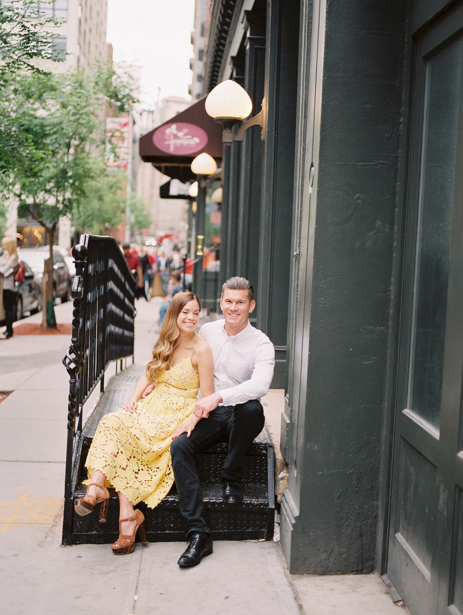 romantic engagement session in new york