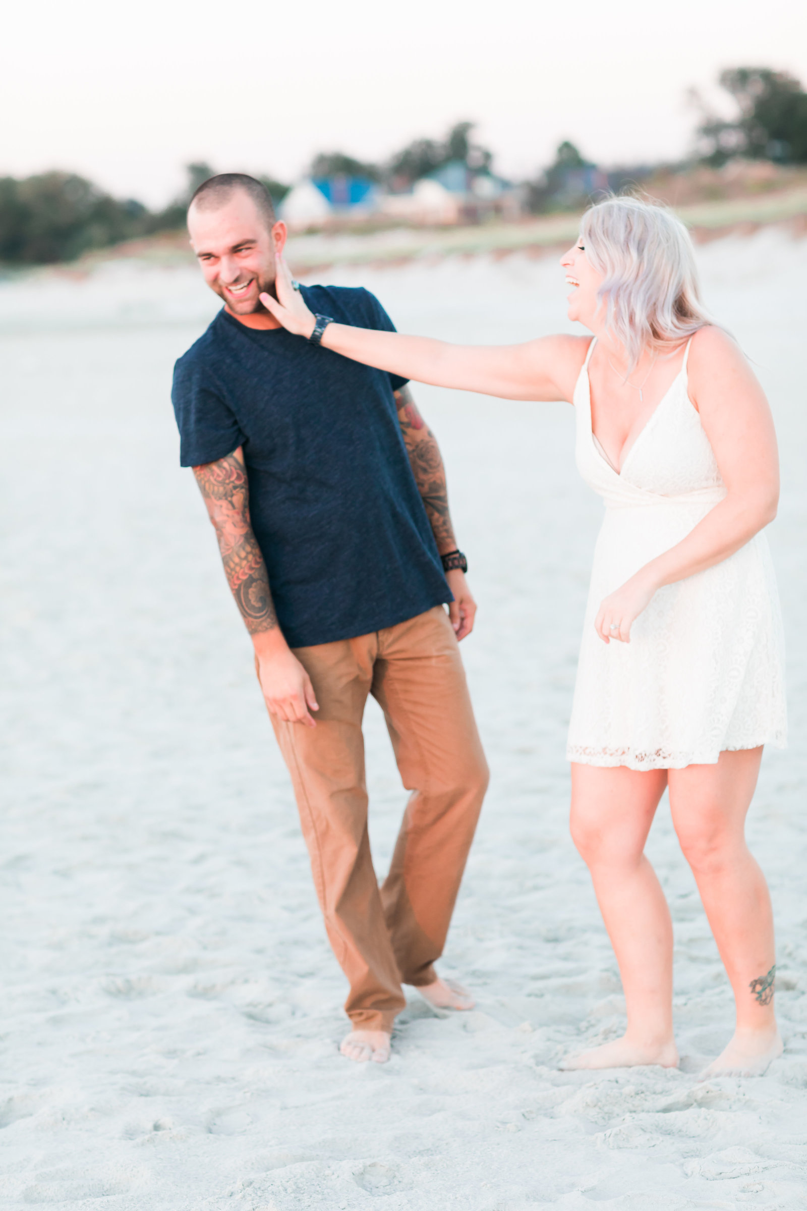 Cape Charles Sunset Engagement Session by Elizabeth Friske Photography-12