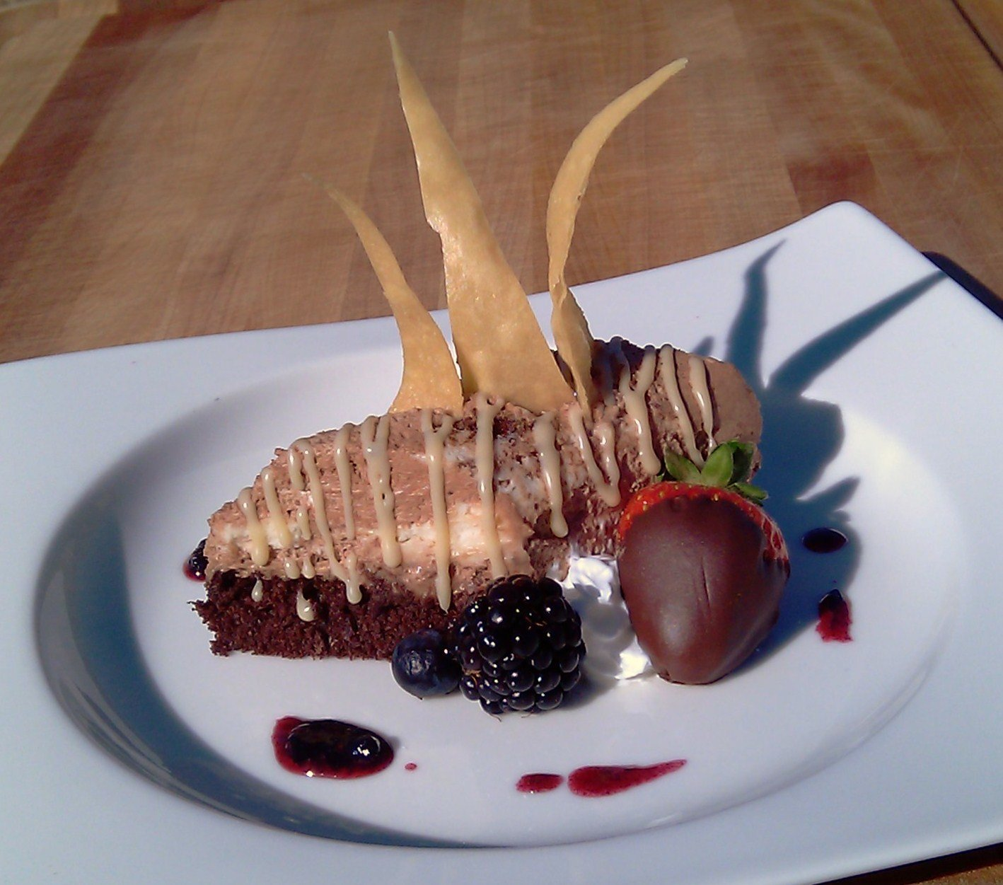 Valentine's Day Chocolate Mousse & Dolce Vino Sauce