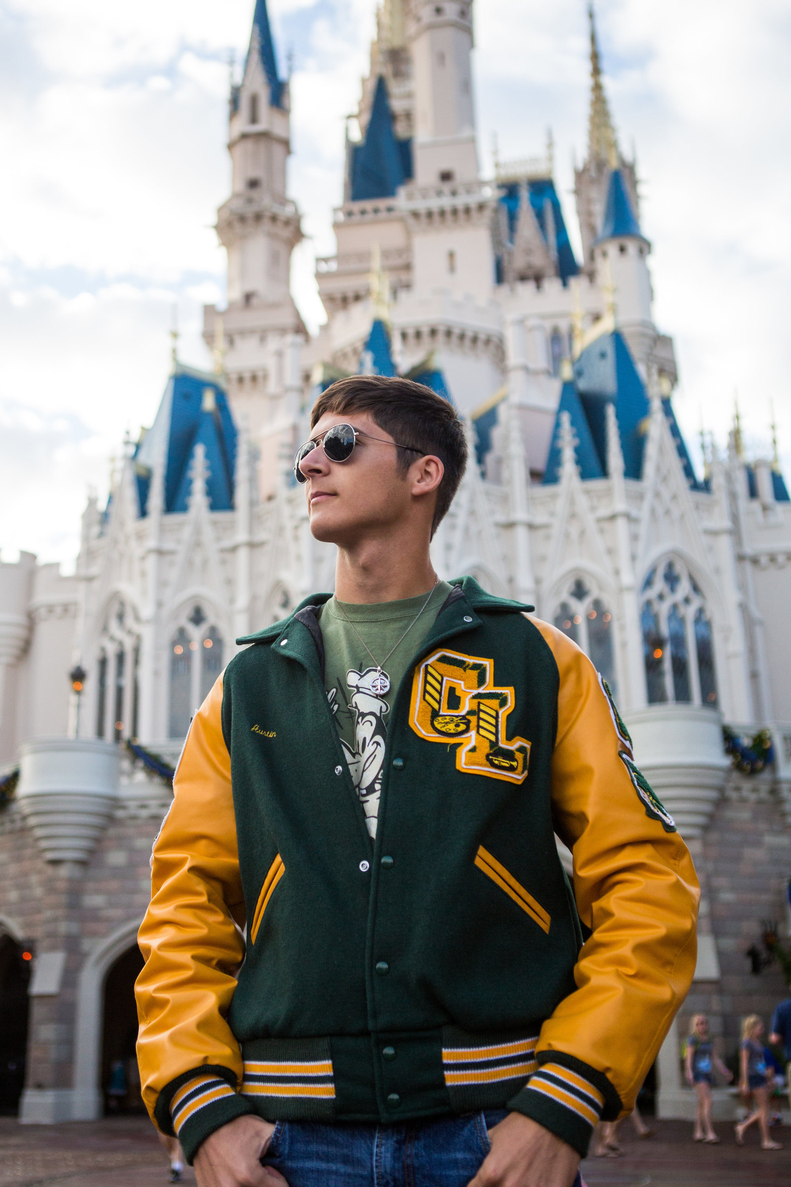 disney magic kingdom boy senior portrait