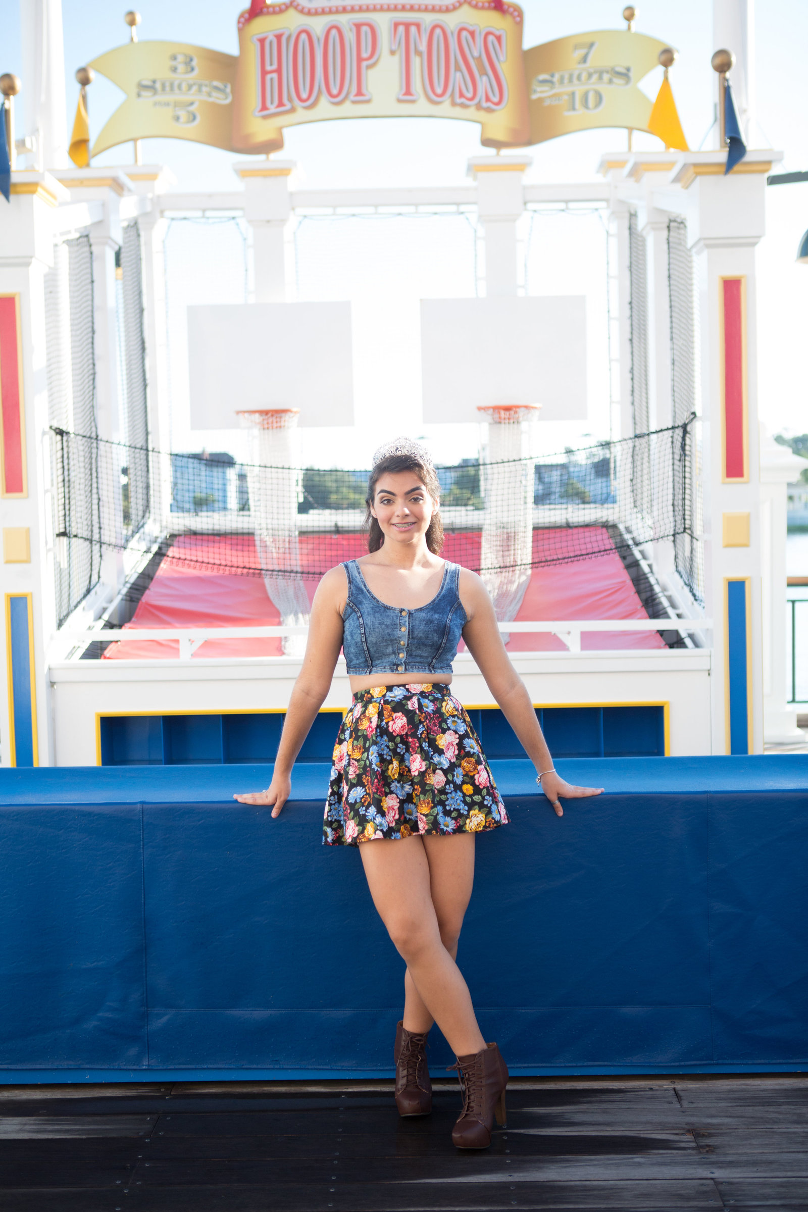 disney boardwalk senior portraits