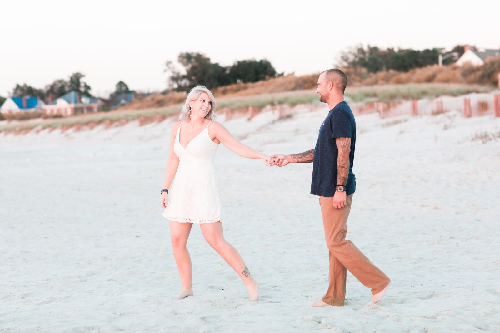 Cape Charles Sunset Engagement Session by Elizabeth Friske Photography-8