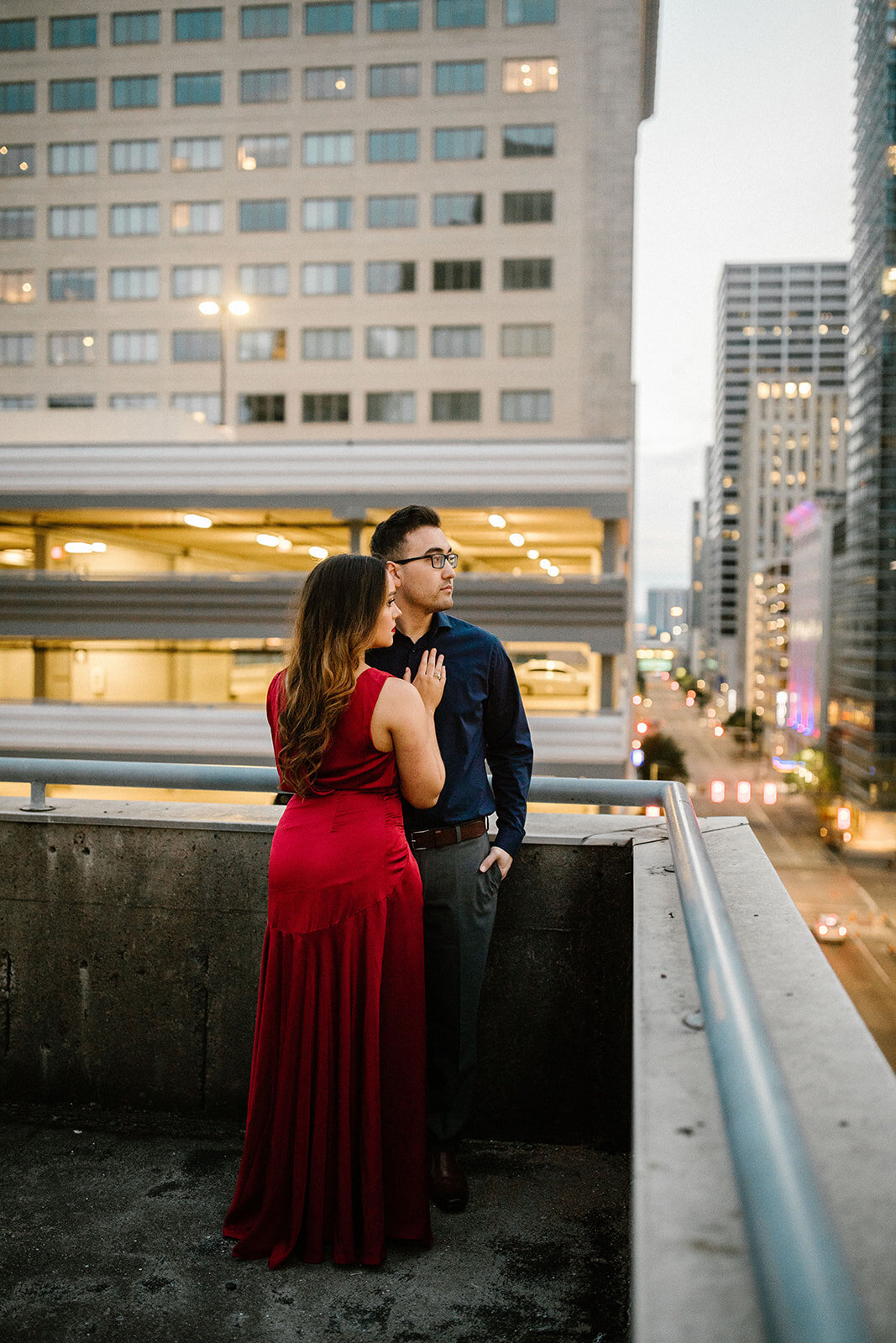Kori+Tommy_Memorial Park and Downtown Houston Engagements_44