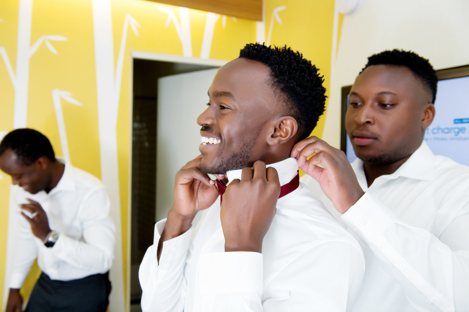 groomsmen get ready at jupiter hotel