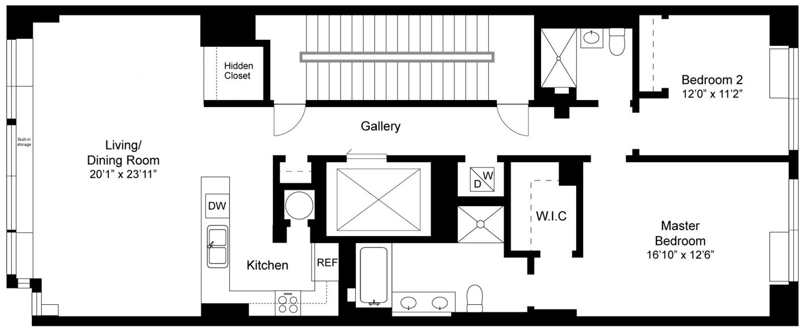 211 W 18 Floorplan no Logo