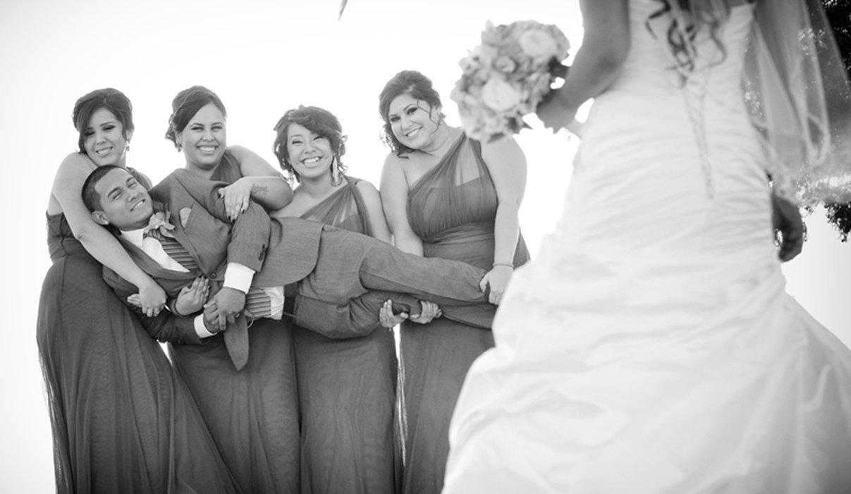 Wedding day ashamed groom