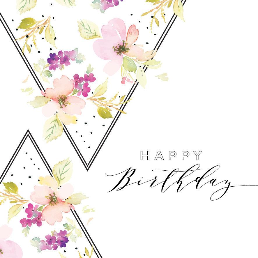 Geburtstagskarte, wunderschön, modern
