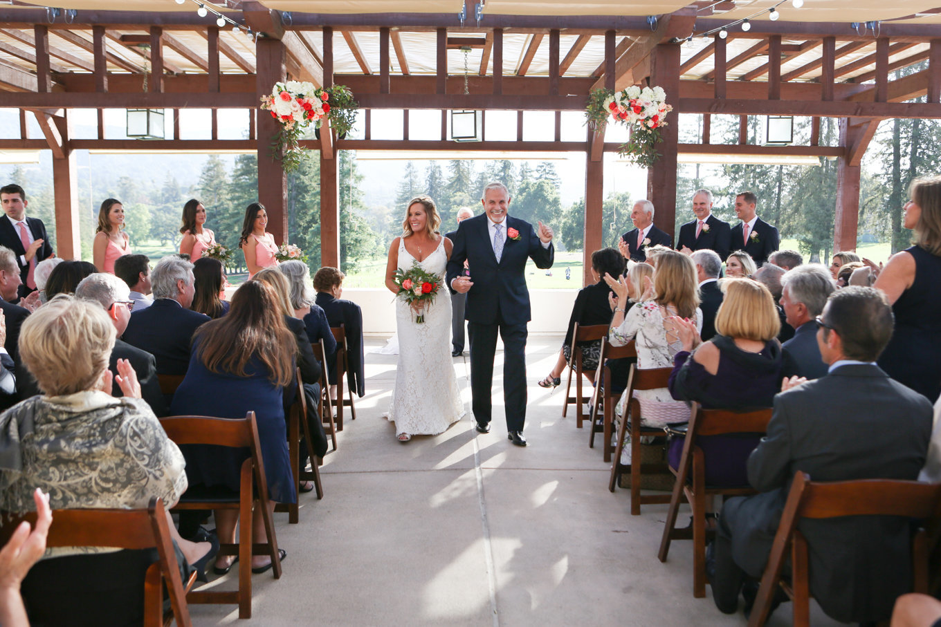 Stunning northern california wedding, bride and groom at ceremony