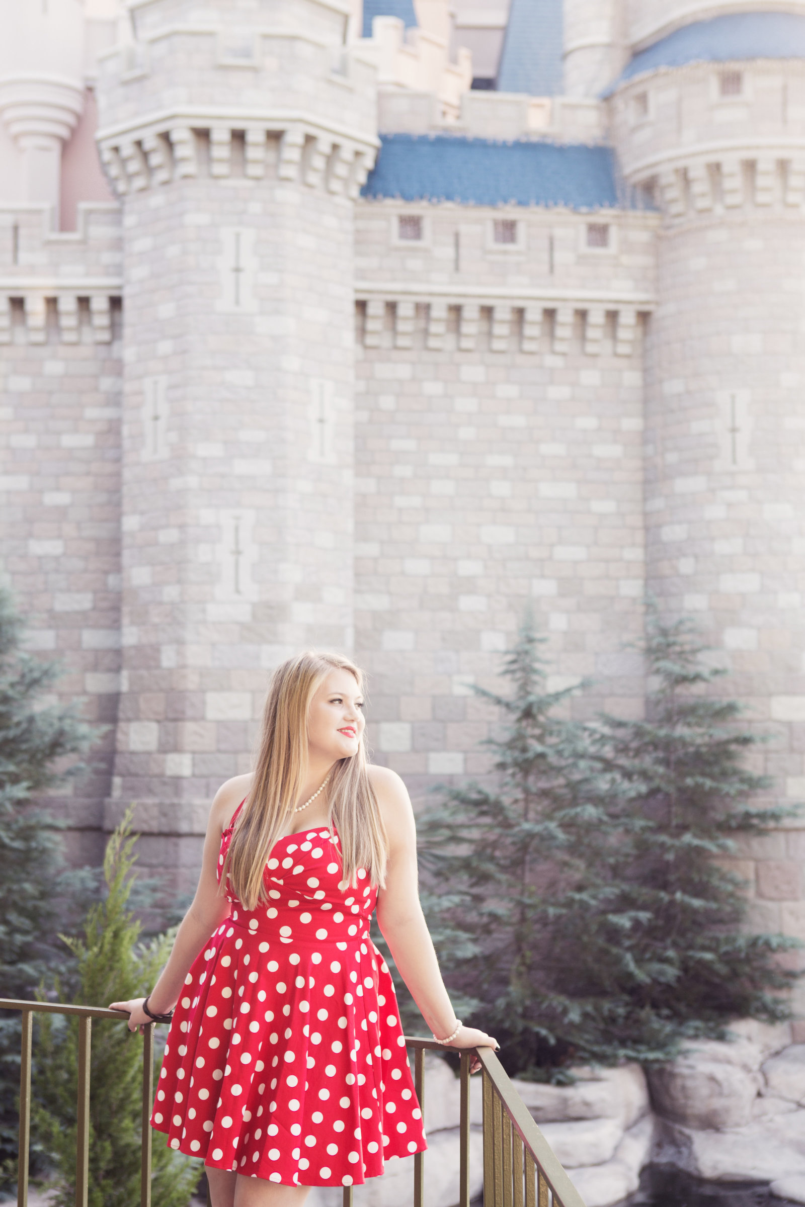 disney girl senior portrait in magic kingdom
