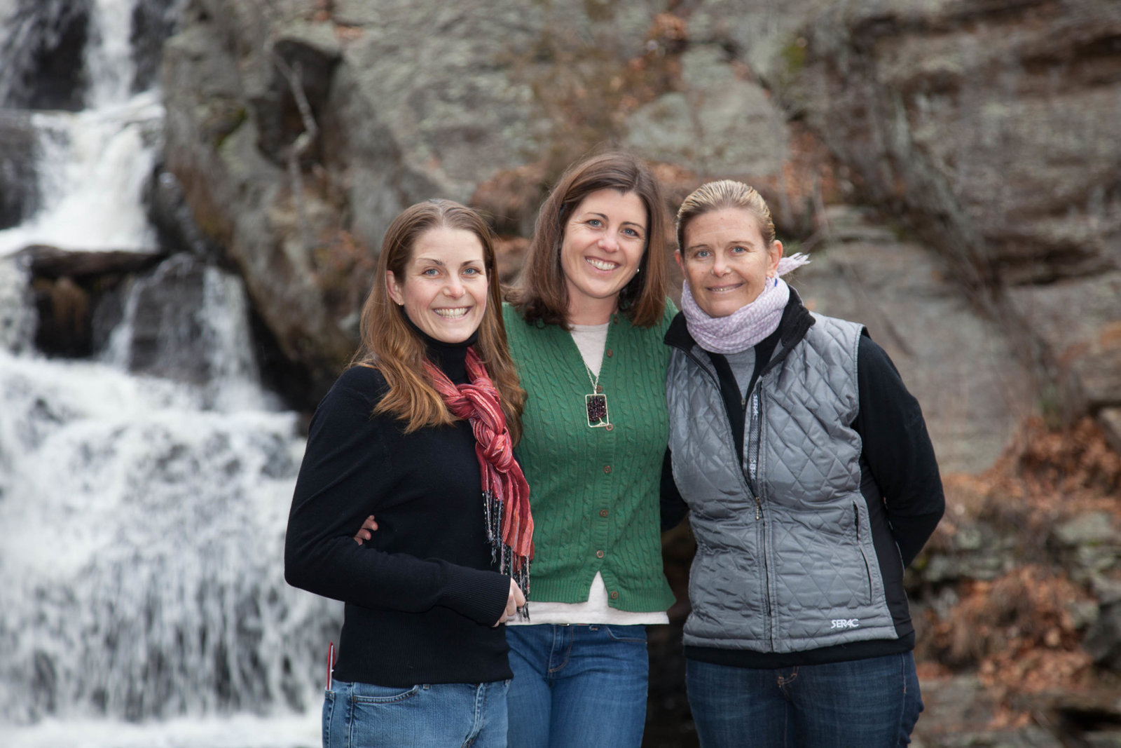three sisters portrait at Devil's Hopyard