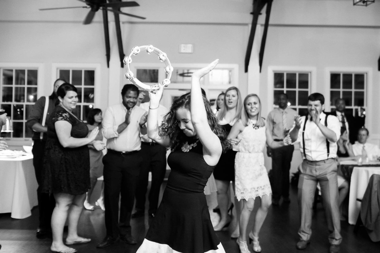 Guests dance at reception, Alhambra Hall, Mt Pleasant, South Carolina