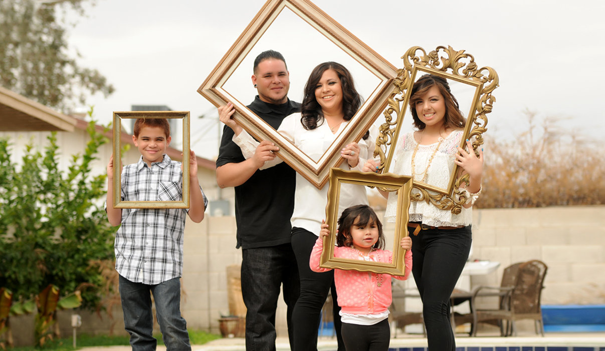 Family Session in the frame