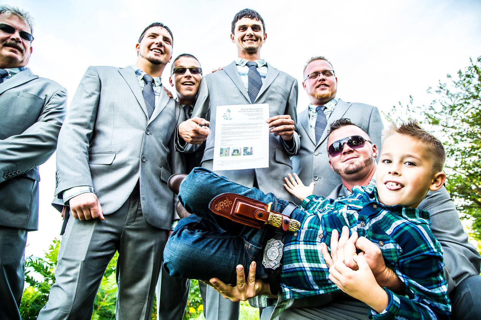 wedding photography groomsmen portrait