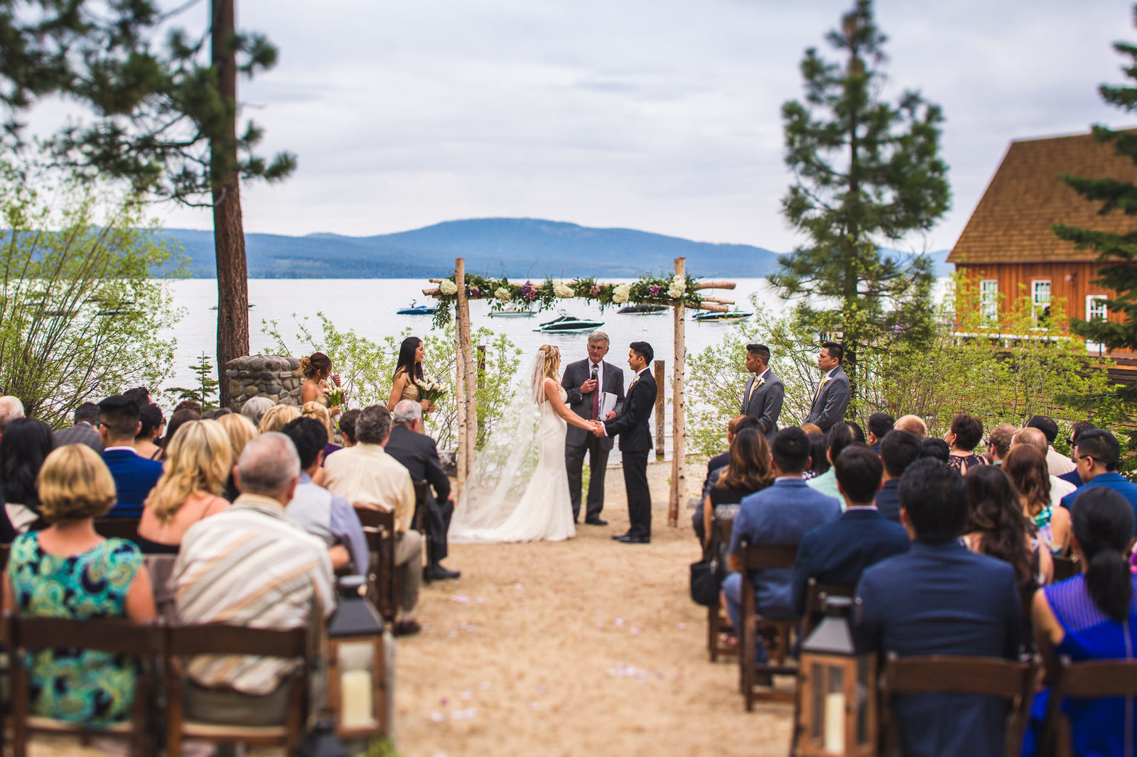 san francisco wedding photography alice che lake tahoe chambers landing ceremony
