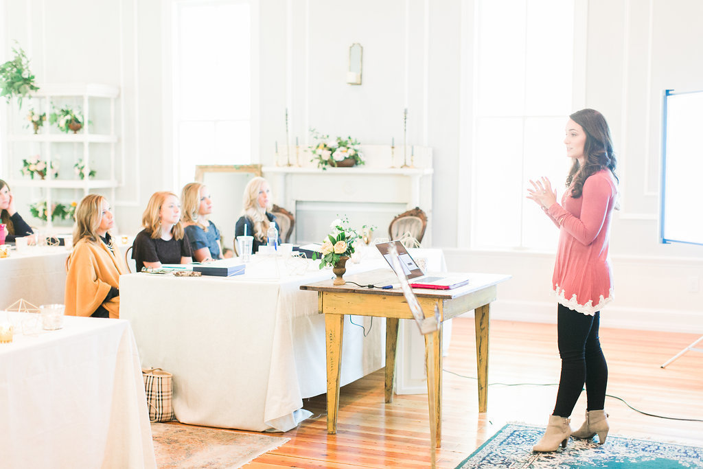 The School of Styling presentation at The Parlour venue in Chapel Hill North Carolina, creative workshop