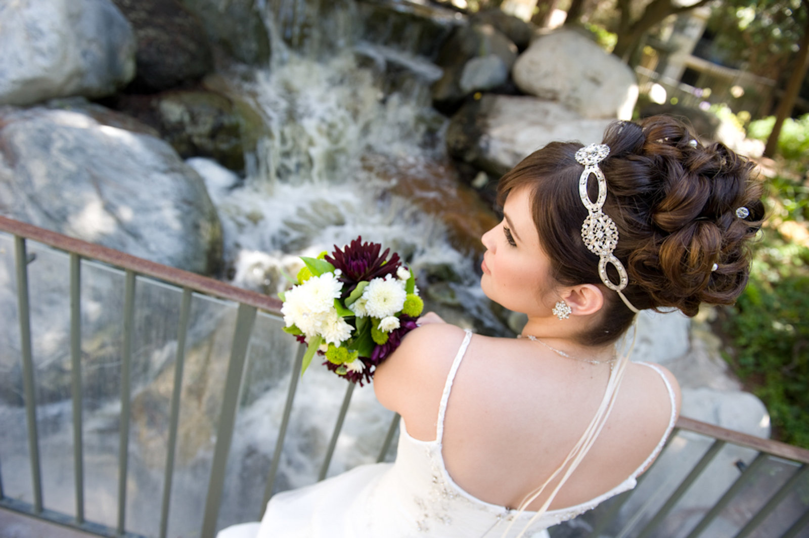 bride with beautiful up-do