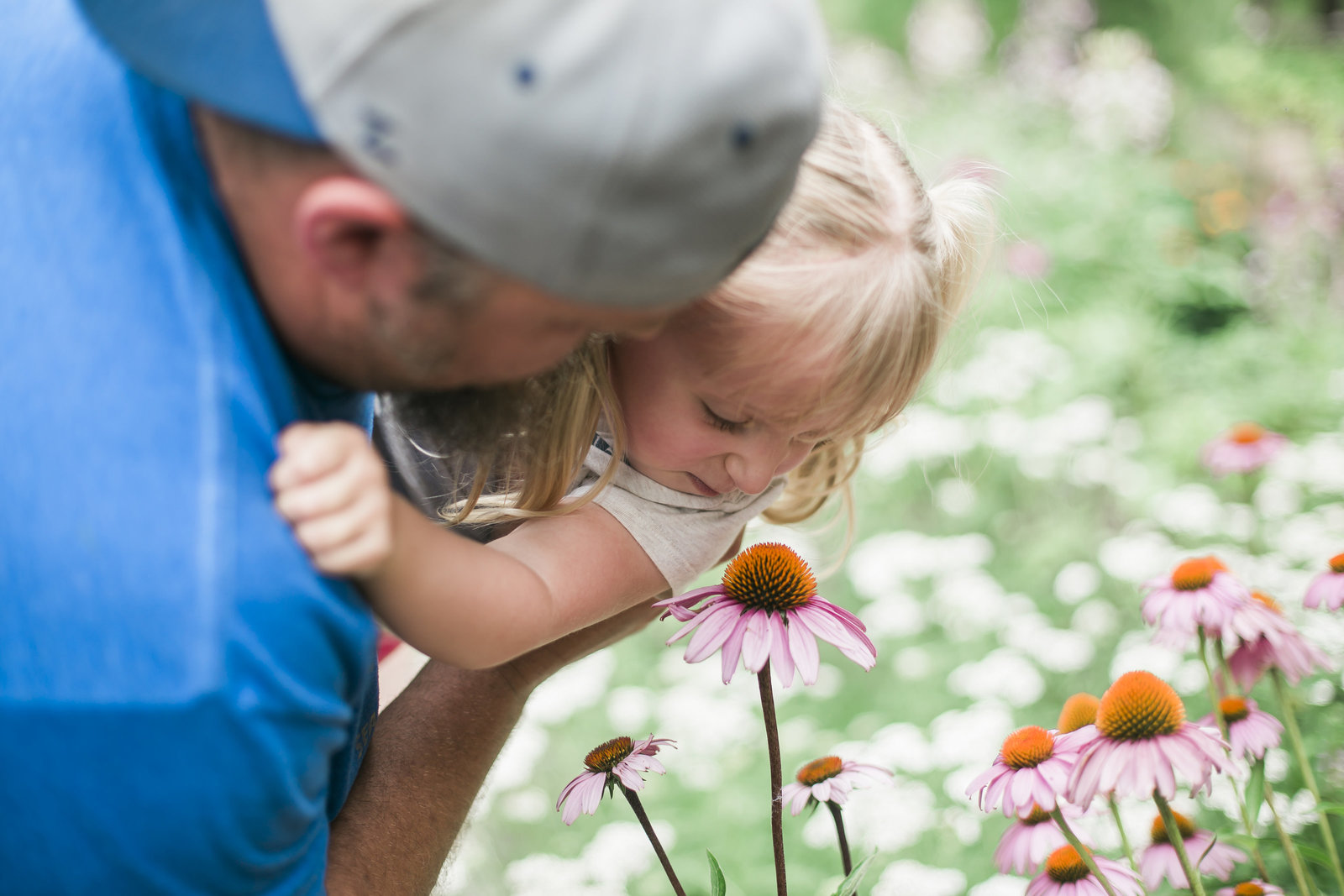 Smelling the flowers with my kiddo