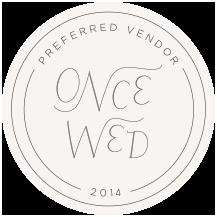 OnceWed_PreferredVendor_Circle_2014