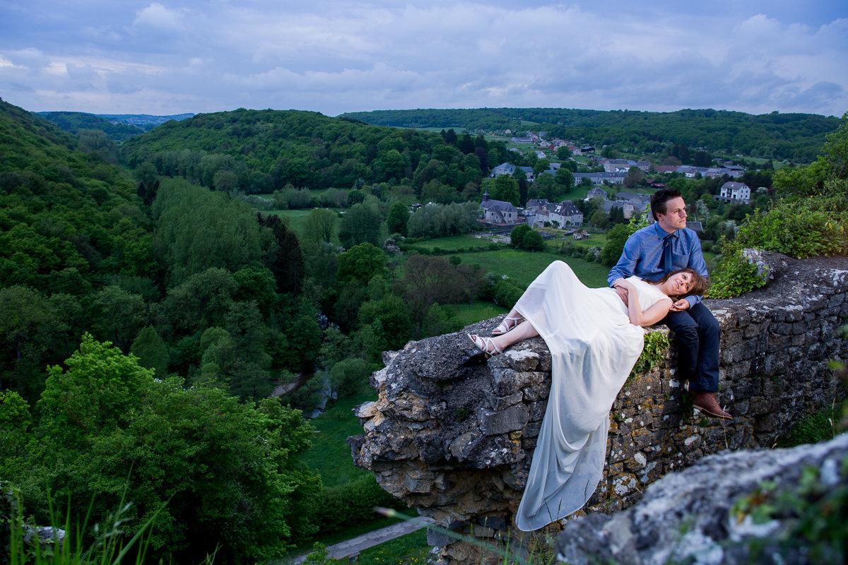 Ardennen trouw Cathy en Wim foto