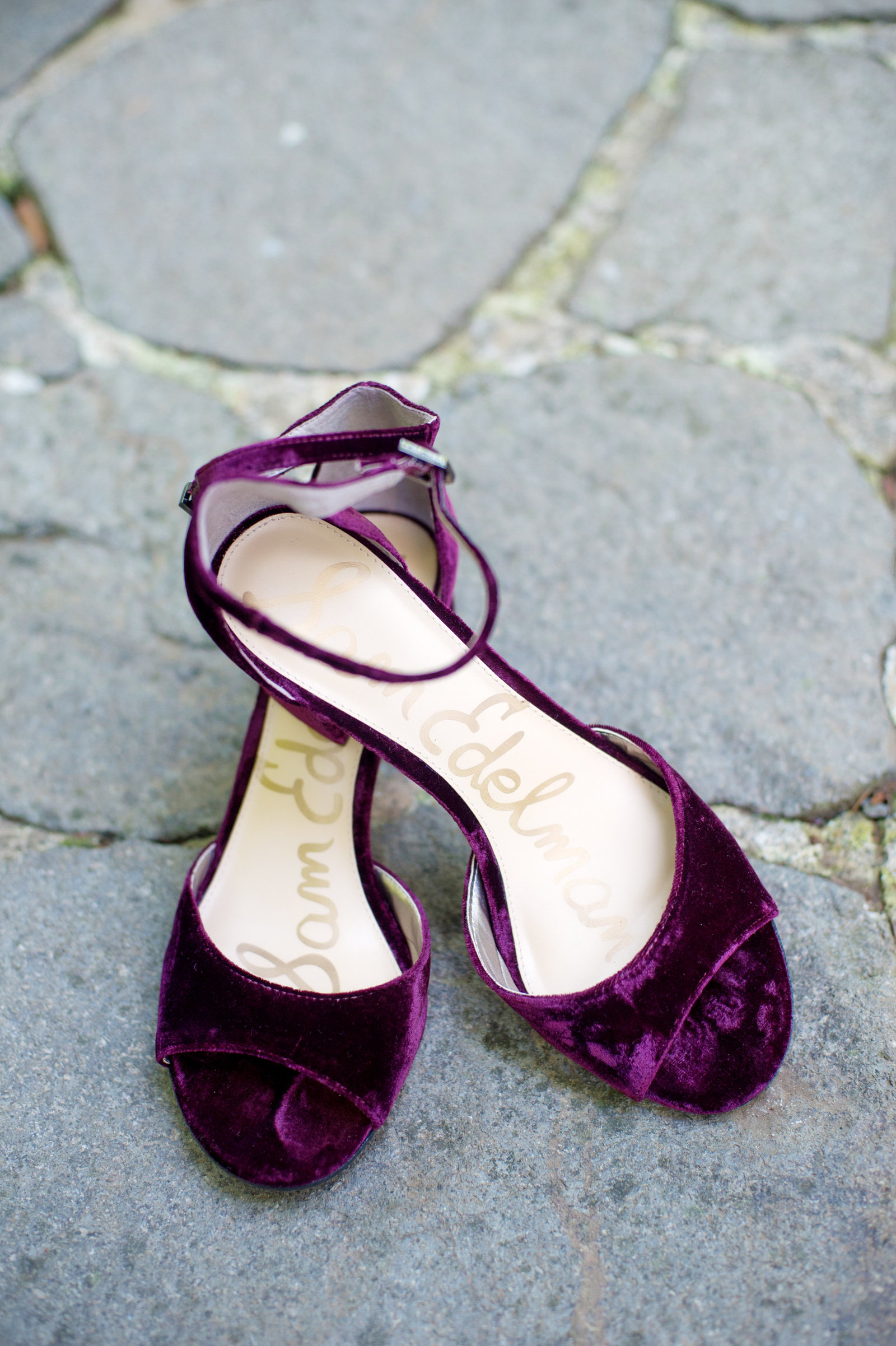 burgundy velvet wedding day heels