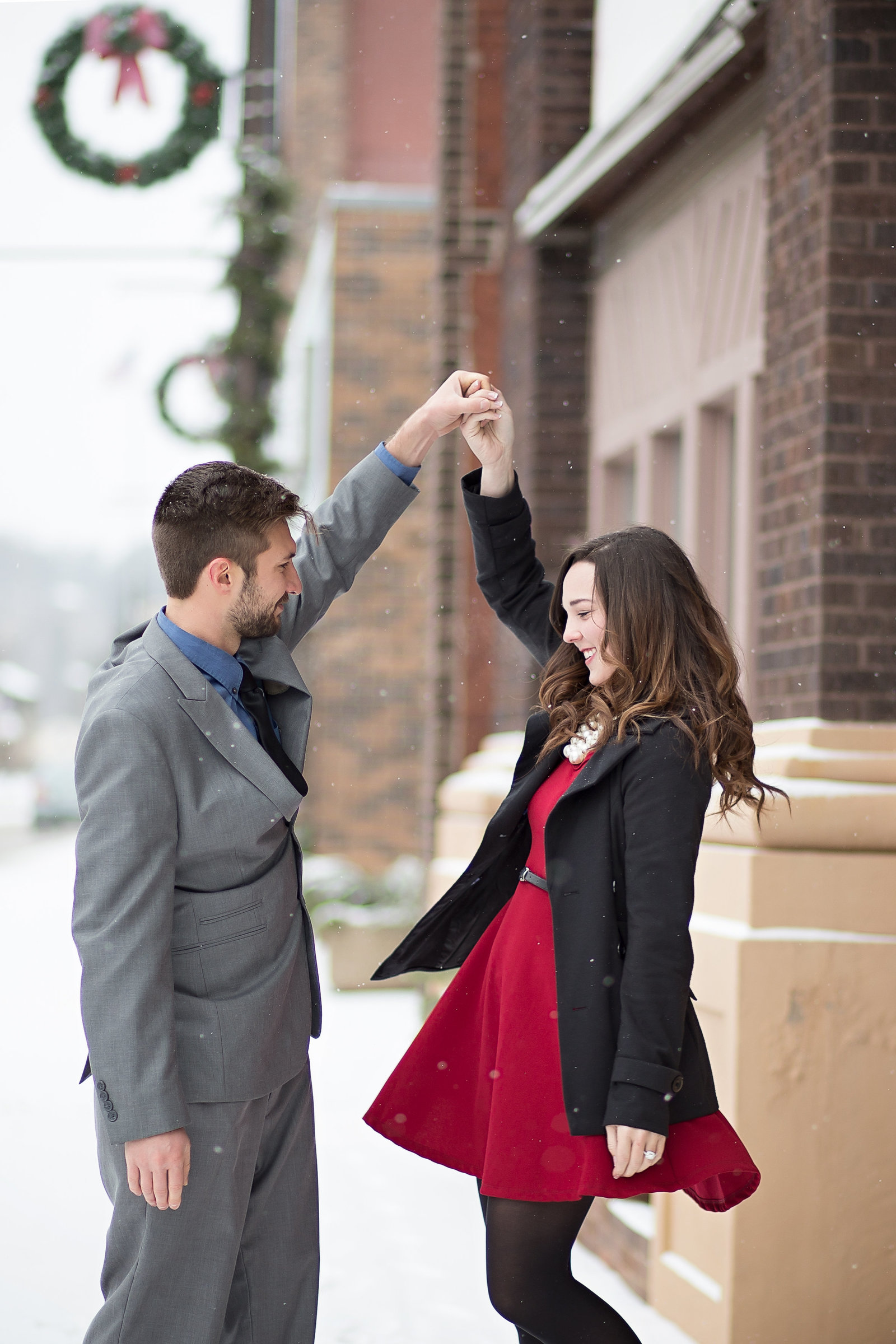 Downtown Iron Mountain engagement and wedding photographer with http://www.photosbyciera.com