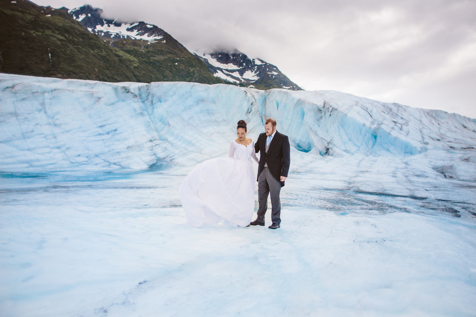 Glacier wedding photographer anchorage alaska