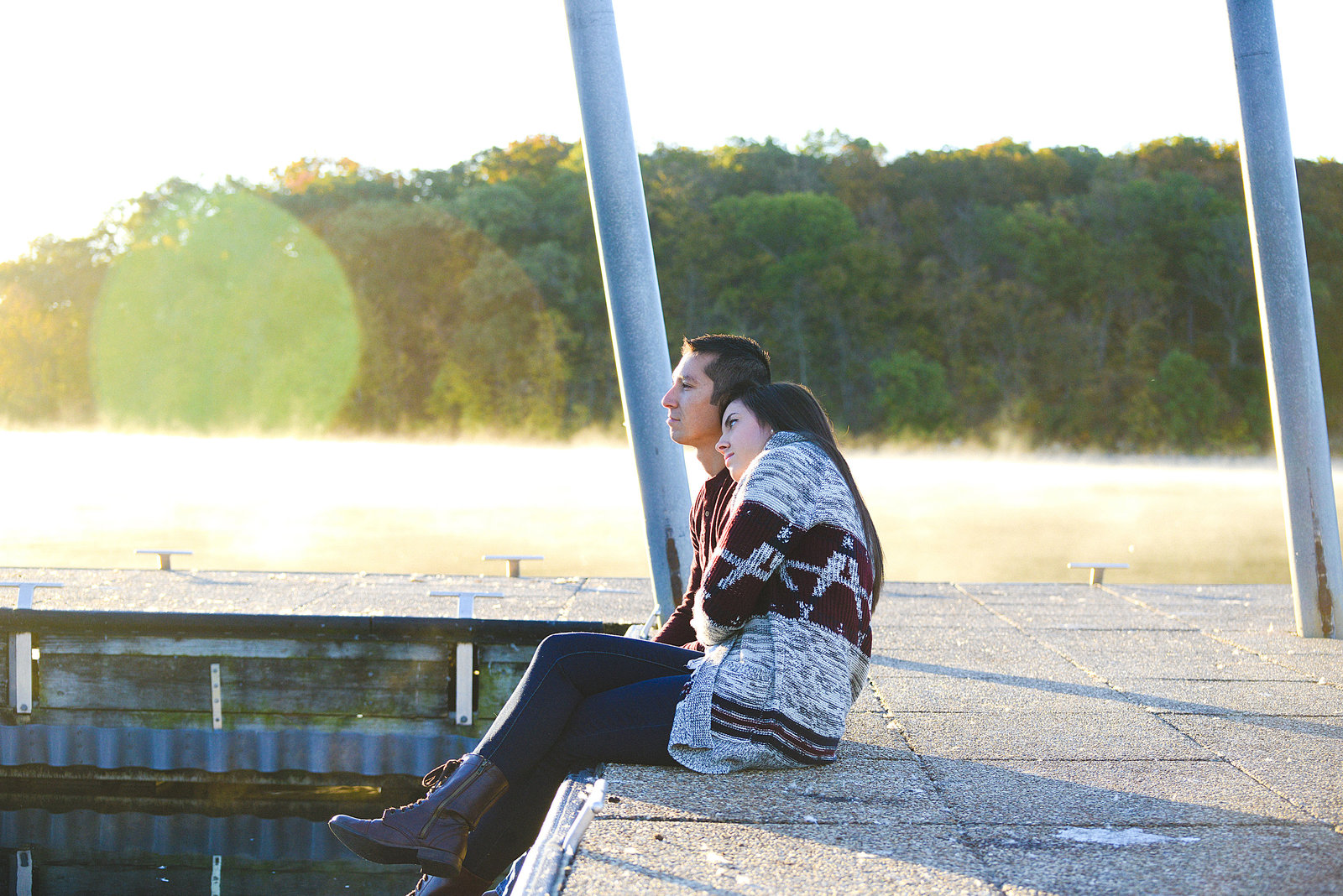 Engagement Pictures at Shawnee Mission Park-9