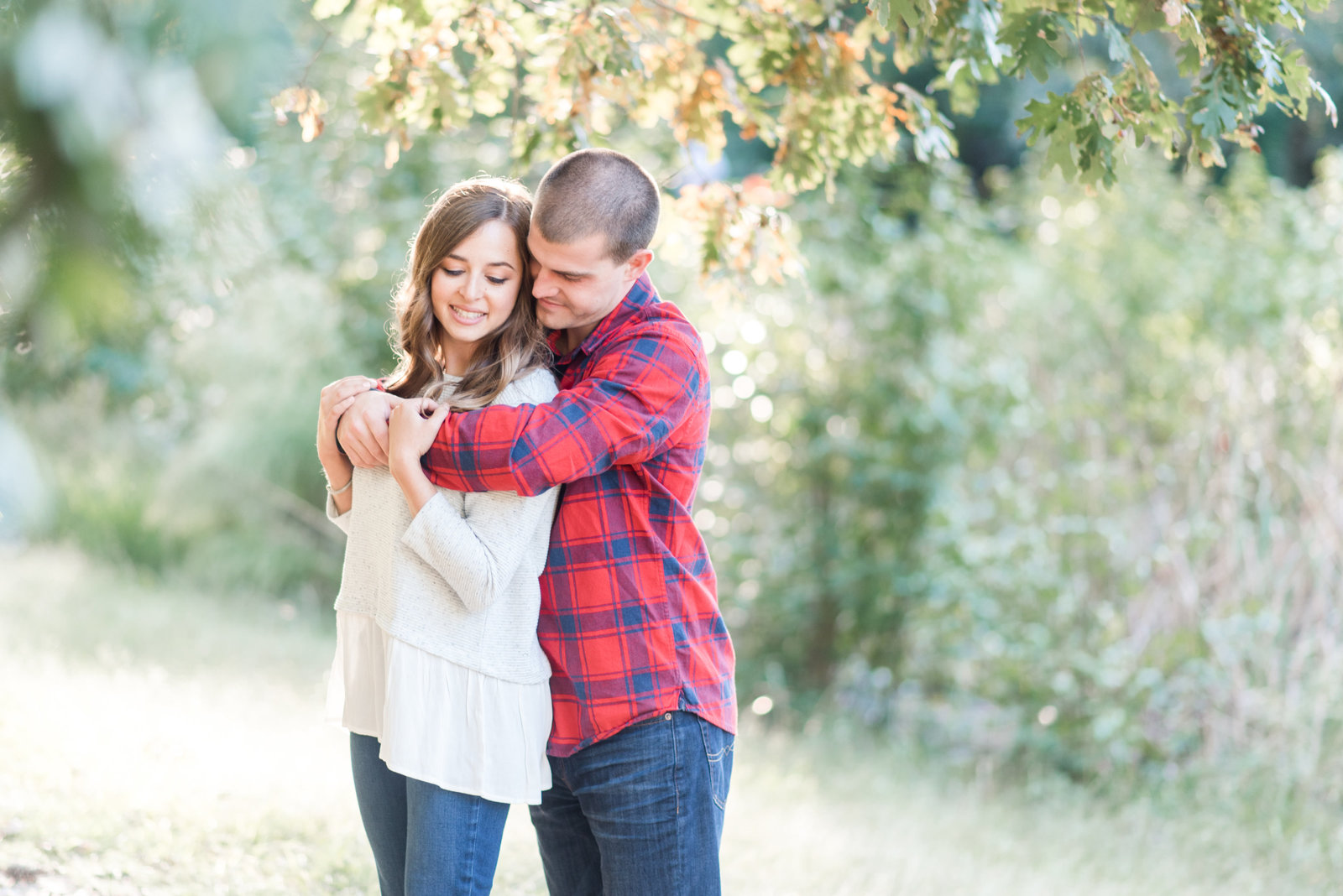 va beach park fall foliage golden light engagement photo by hampton roads photographer