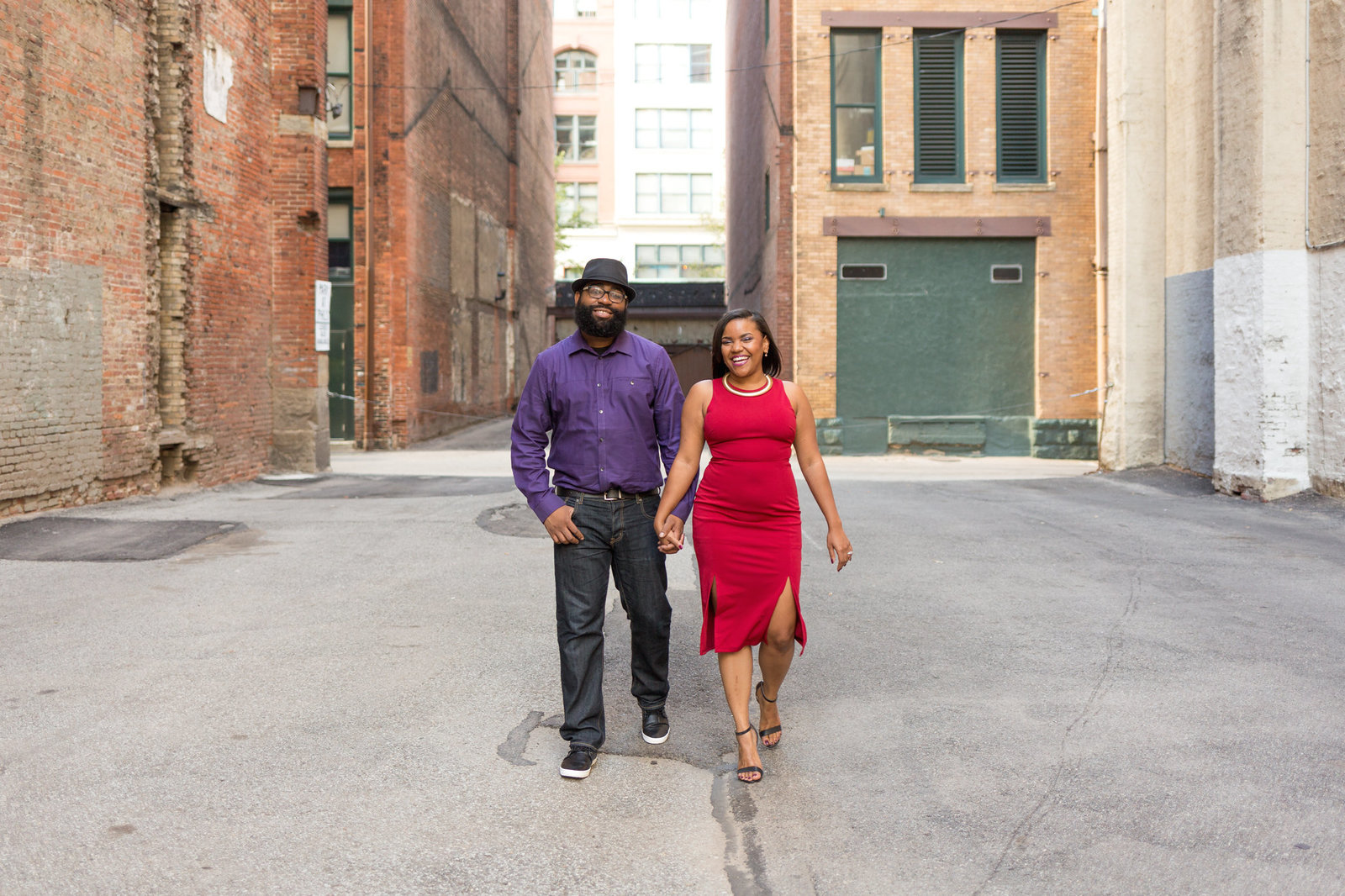 Downtown Pittsburgh engagement session Mecca Gamble Photography