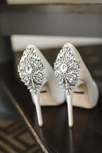 Badgley Mischka Bridal Heels at the Omni