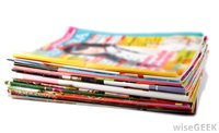 stack-of-magazines-on-white-background