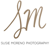 Susie Moreno logo lettermark bronze