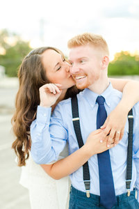 Ryan Spitzel & Katie McVicar Engaged - Engagement Session in Downtown Harrisonburg, Virginia, and JMU Quad, James Madison University-7