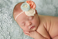 newborn baby girl in studio custom photography