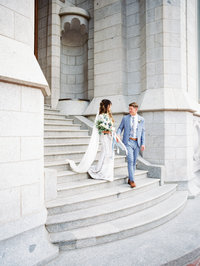 McCune Mansion wedding in Salt Lake City with Temple sealing