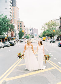 Same sex New York City wedding