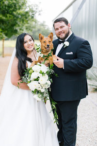 Bride Groom Dog Wedding Animal Photographer