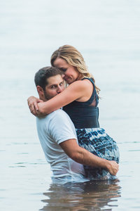 Intimate Water Lake Engagement Session at Smith Mountain Lake | Melissa Durham Photography